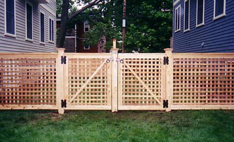 Lattice Fence Design Pictures